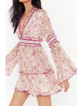 Bloomer Than Later Floral Ruffle Mini Dress by Nasty Gal