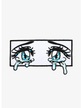 Crying Anime Eyes Patch by Hot Topic