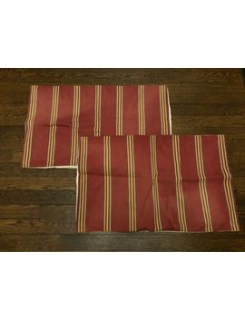 Pottery Barn Red And Striped Lumbar Pillow Covers Set Of 2 Cotton Linen 16 X 26 by Pottery Barn