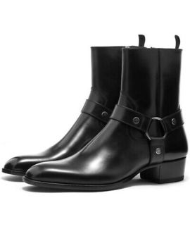 Saint Laurent Wyatt 40 Harness Leather Boot Black Us 11 Eur 44 by Ebay Seller