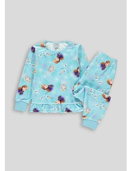 Kids Frozen Fleece Pyjama Set (2 9yrs) by Matalan
