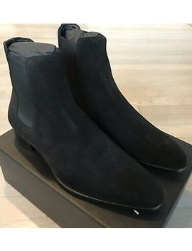 1,000$ Saint Laurent Black Suede Chelsea Boots Size Us 10.5, Made In Italy by Ebay Seller