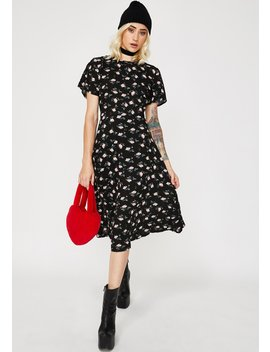 Floral Cut Out Tie Back Midi Dress by Daisy Street