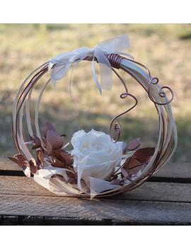 "Wedding Ring Keeper \""Arcade Rose Gold\"", Trendy Ring Holder With Preserved Natural Flower, Rose Gold Wedding Ring Holder, Ring Cushion by Etsy"
