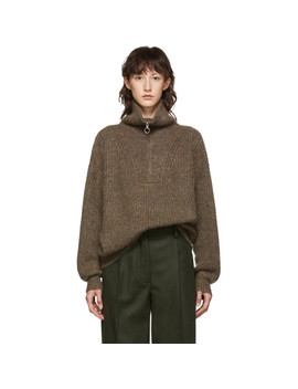 Brown Myclan Knit Fluffy Turtleneck by Isabel Marant Etoile