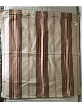 "Pottery Barn Francisco Stripe Throw Pillow Cover 24"" X 24"" Large Khaki Red New by Pottery Barn"