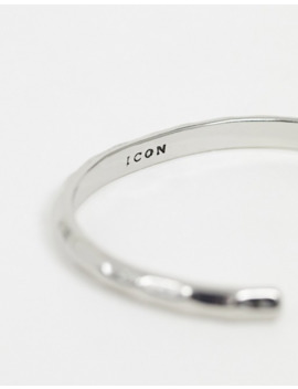 Icon Brand Metal Cuff Bangle Bracelet In Silver by Icon Brand