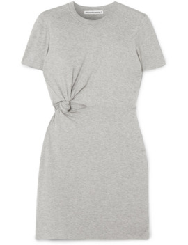 Twisted Cutout Stretch Cotton Jersey Mini Dress by Alexanderwang.T