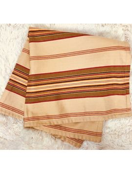 "Pottery Barn Striped Pillow Cover 24""X24"" All Cotton Beige/Tan Red Brown Stripes by Pottery Barn"
