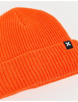 Collusion Unisex Beanie In Neon Orange by Collusion