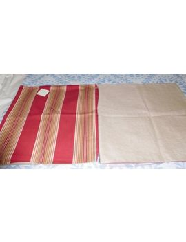 """Nwt   2 Pottery Barn """"Ombre Stripe"""" Red 20"""" Pillow Covers Cotton W/ Linen Back by Pottery Barn"""