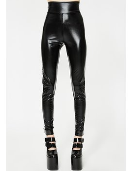 Black Vinyl Trousers by Anti Brand