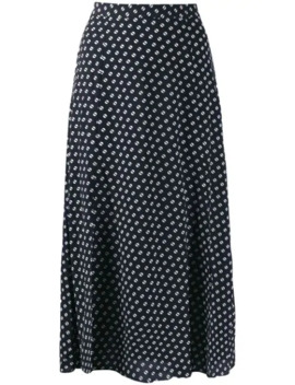 Dot Print Midi Skirt by Michael Michael Kors