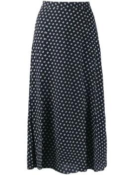 Dot Print Midi Skirt by Michael Michael Kors