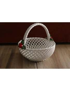 Levante Porcelain Woven Christmas Basket, Spain by Etsy
