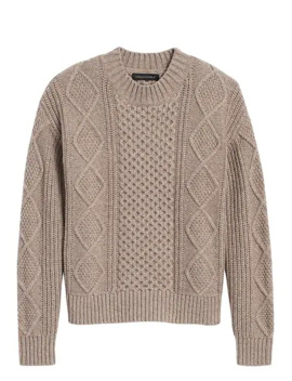 Cable Knit Cropped Sweater by Banana Repbulic