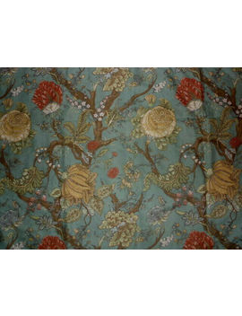 Pottery Barn Wells Palampore Floral Trees Blue/Red/Yellow Full/Queen Duvet by Pottery Barn