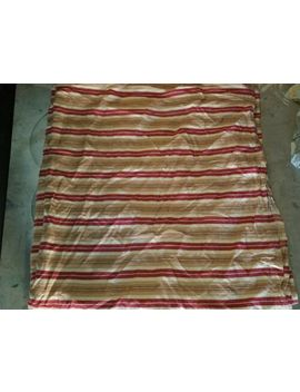"Pottery Barn ""Red/Beige Stripe"" Linen Full/Queen Duvet by Pottery Barn"