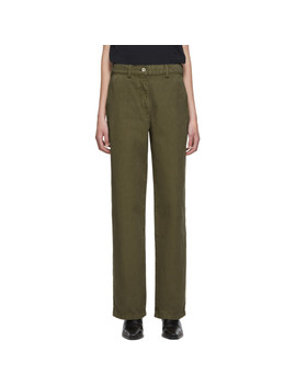 Khaki Workwear Trousers by Our Legacy