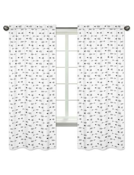 Black & White Arrow Curtain Panels   Sweet Jojo Designs® by Shop This Collection