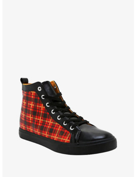 Harry Potter Gryffindor Plaid Hi Top Sneakers by Hot Topic
