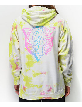 Odd Future White, Green & Pink Crystal Wash Hoodie by Odd Future