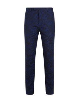 1904 Hardy Navy Jacquard Tuxedo Trousers* by Burton
