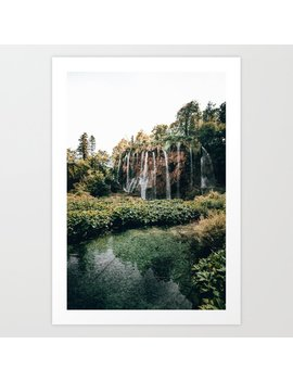 Waterfall Xvi / Plitvice Lakes, Croatia Art Print by Society6