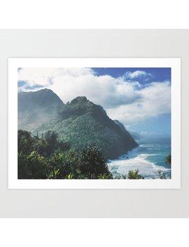 Na Pali Coast Kauai Hawaii Art Print by Society6