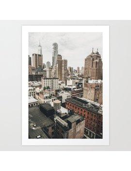 New York City View Art Print by Society6