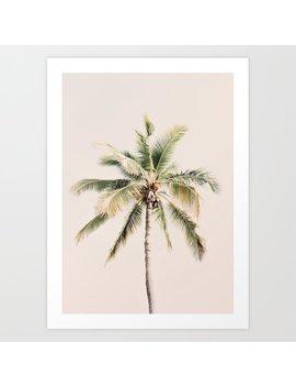 Tropical Palm Tree Art Print by Society6