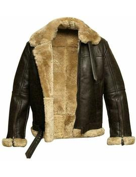New Aviator Pilot Raf B3 Flying Bomber Fur Shearling Sheepskin Leather Jacket by Raf