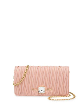 Matelassé Crystal Mini Bag by Miu Miu