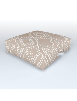 Diamond Dots In Tan Outdoor Floor Cushion by Society6