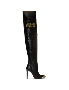Black Tall Heeled Boots by Versace Jeans Couture