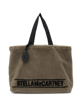Beige Sherpa Carry All Tote by Stella Mccartney