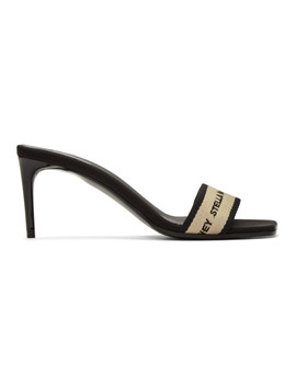 Black & Beige Logo Sandals by Stella Mccartney