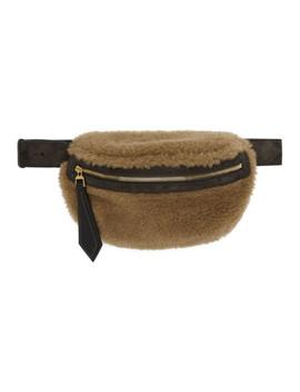 Tan Teddy Wool Bum Bag by Max Mara