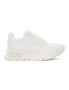 White Nkp3 Lace Up Sneakers by Nicholas Kirkwood