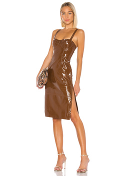 Ophelia Leather Midi Dress by Lpa