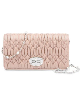 Leather Wallet Bag by Miu Miu