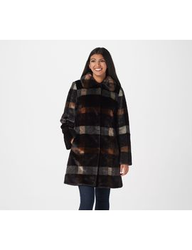 Dennis Basso Madison Avenue Printed Faux Fur Jacket by Dennis Basso