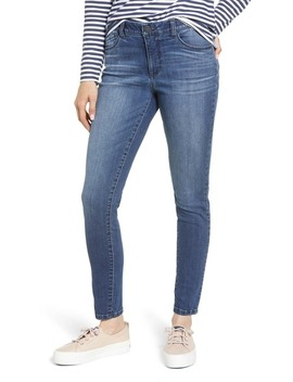 Ab Solution High Waist Denim Leggings (Petite) (Nordstrom Exclusive) by Wit & Wisdom