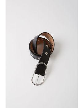 Leather Eyelet Belt Black by Acne Studios