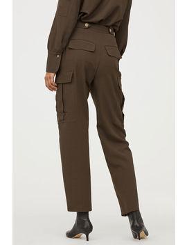 Wool Blend Utility Pants by H&M
