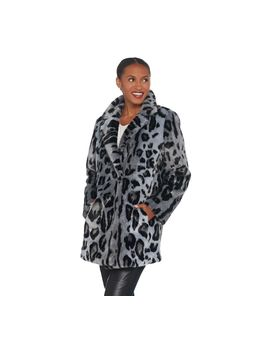 Dennis Basso Madison Avenue Printed Faux Fur Jacket With Notched Lapel by Dennis Basso
