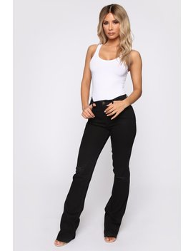 Fool For You Boot Cut Jeans   Black by Fashion Nova
