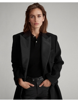 Manteau De Smoking En Laine Mélangée by Ralph Lauren