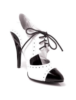 5 Inch Sexy High Heel Oxford Shoe Two Tone Shoe Theatre Costumes Accessory by Summit Fashions