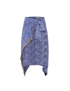 Asymmetric Jacquard Skirt by Chloé